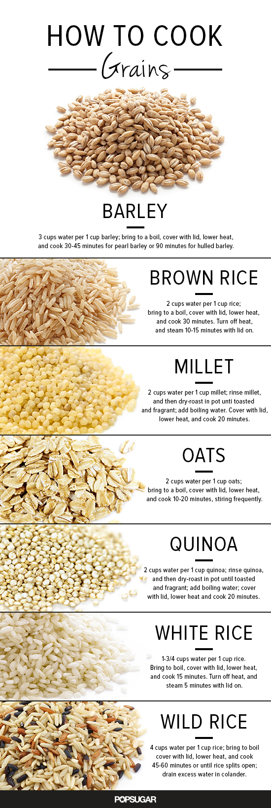 How to cook grains popsugar food - Six alternative uses of rice at home ...