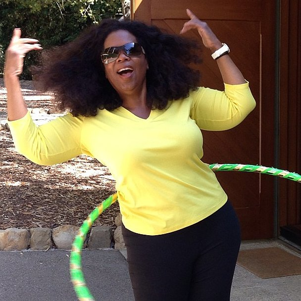 It looks like Oprah may have caught the Hoopnotica fever! Source: Instagram user oprah