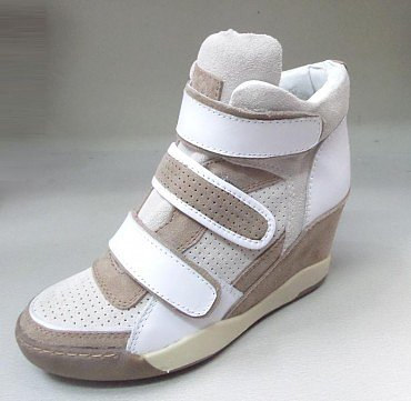 ASH WHITE ALEX WEDGE TRAINER