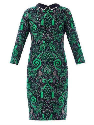 No. 21 Embellished collar brocade dress