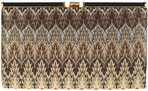 Jacquard Metallic Clutch