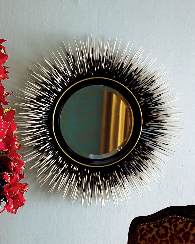 The two-tone Janice Minor Porcupine Quill Mirror ($700, originally $840) features an eye-catching design that will make you a porcupine fan in no time.
