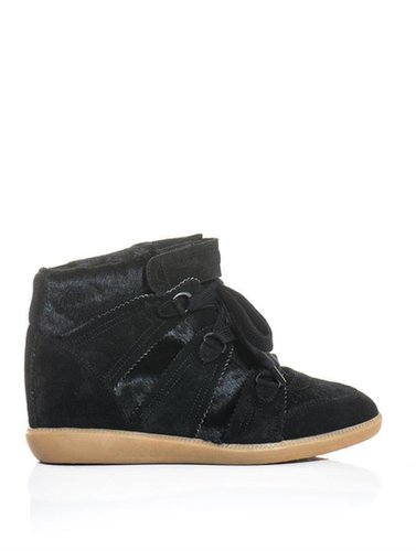 Isabel Marant Blossom ponyskin and suede trainers