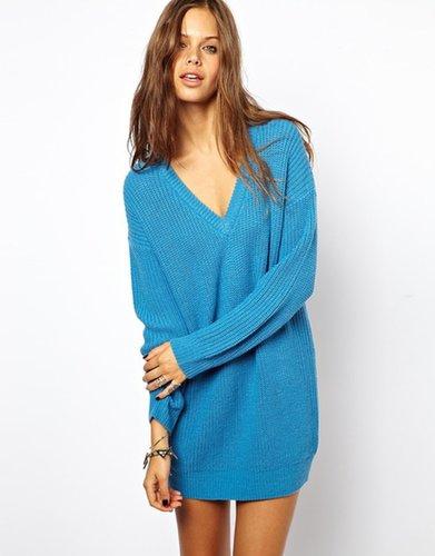 ASOS Deep V Sweater Dress