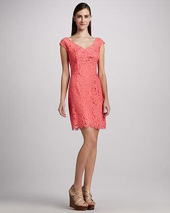 Lilly Pulitzer Rosaline Lace Cap-Sleeve Dress