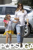 Jennifer Garner was all smiles with her little reader Violet Affleck in LA in August 2013.
