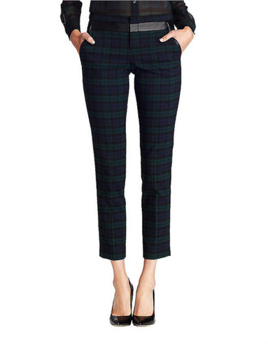424 FIFTH LORD & TAYLOR Black Watch Plaid Pants