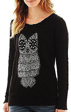 Embellished Owl Critter Pullover Top