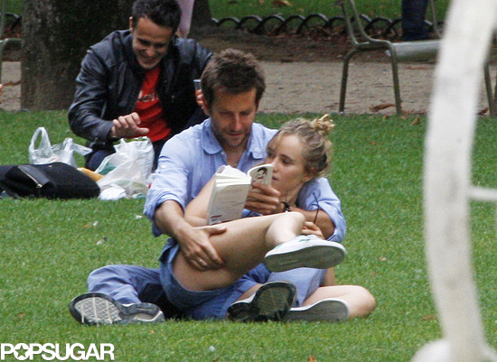 Suki Waterhouse and Bradley Cooper read together in Paris.