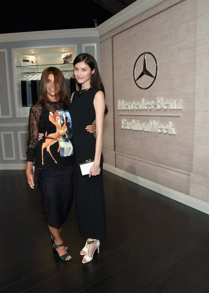 Carine Roitfeld was picture-perfect in Givenchy with Sui He while attending Fashion Week.