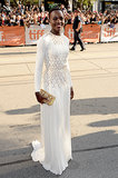 Lupita Nyong'o was breathtaking in Prada while attending the 12 Years a Slave Toronto Film Festival premiere.