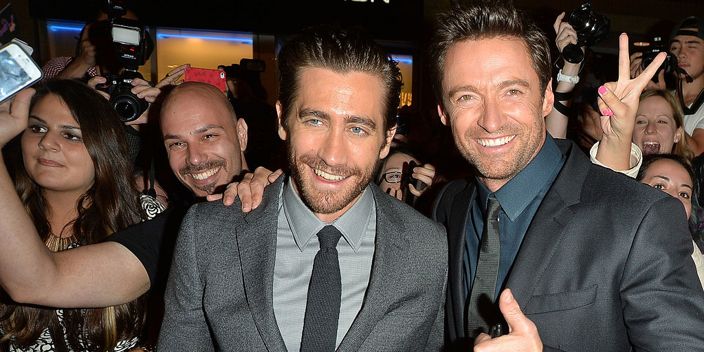 "Hugh Jackman and Jake Gyllenhaal Premiere Prisoners and Embrace Their ""Underdog"" Status — and Fans!"