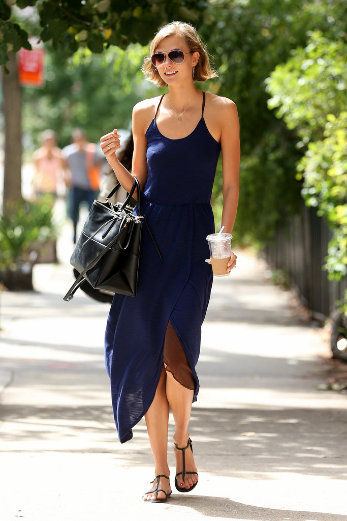Karlie Kloss could wear a sack and still be snapped by street style photographers, but we're glad she keeps delivering the style inspiration in spades.