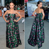 Alicia Vikander in Erdem Gown at the Toronto Film Festival