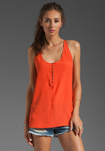 MM Couture by Miss Me Tank With Back Pleats