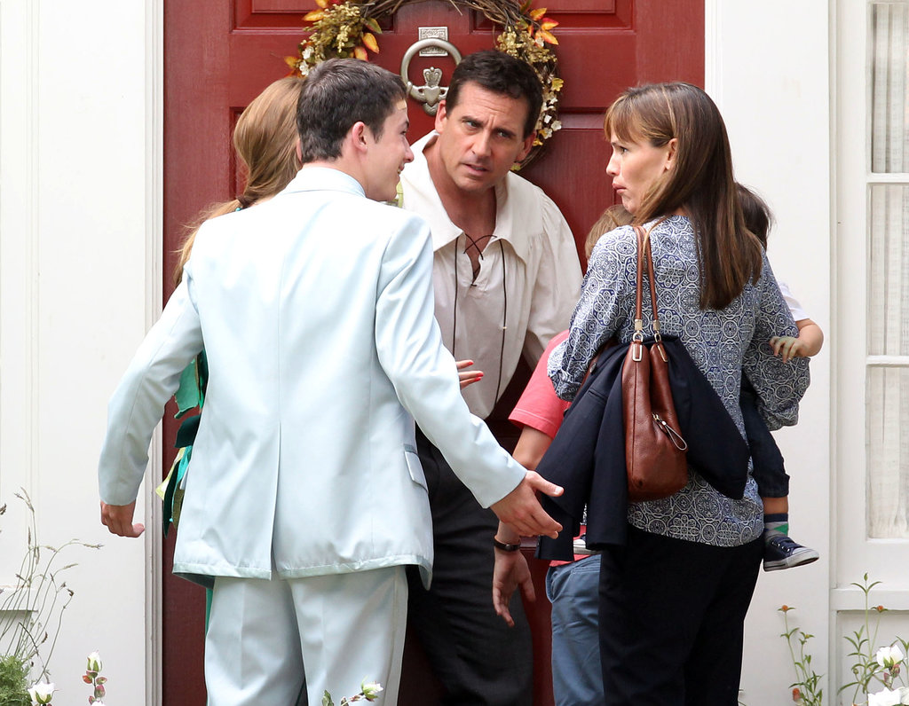 Steve Carell and Jennifer Garner filmed scenes with their little costars.