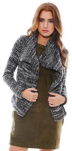 Iro Chanice Sweater Jacket in Black/White