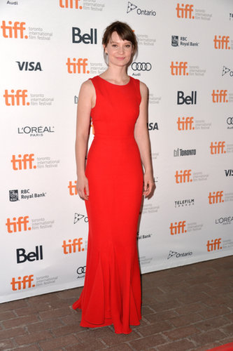 Mia Wasikowska in Red Dior Gown