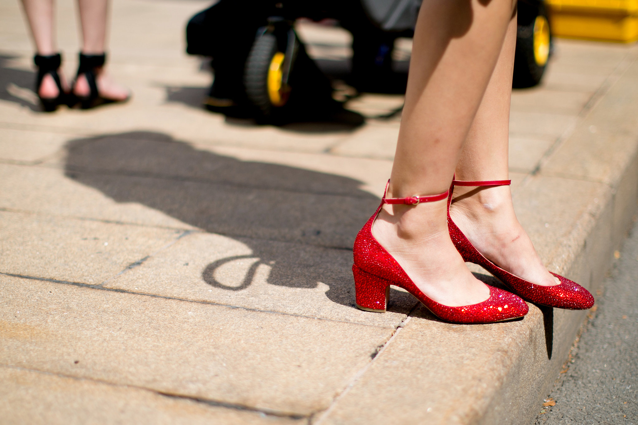 Chic low heels are our favorite kind of heels.