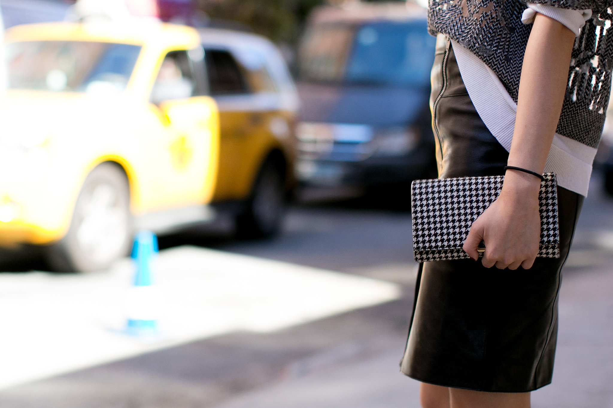 A pop of houndstooth.