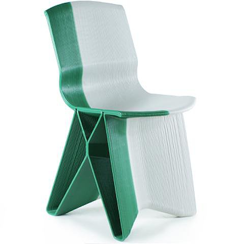Besides the butterfly look of this unique chair ($1,090), the two-tone touch is pretty spectacular.