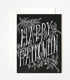 Have you ever seen a Halloween card as pretty as this  chalkboard-style one ($5)?