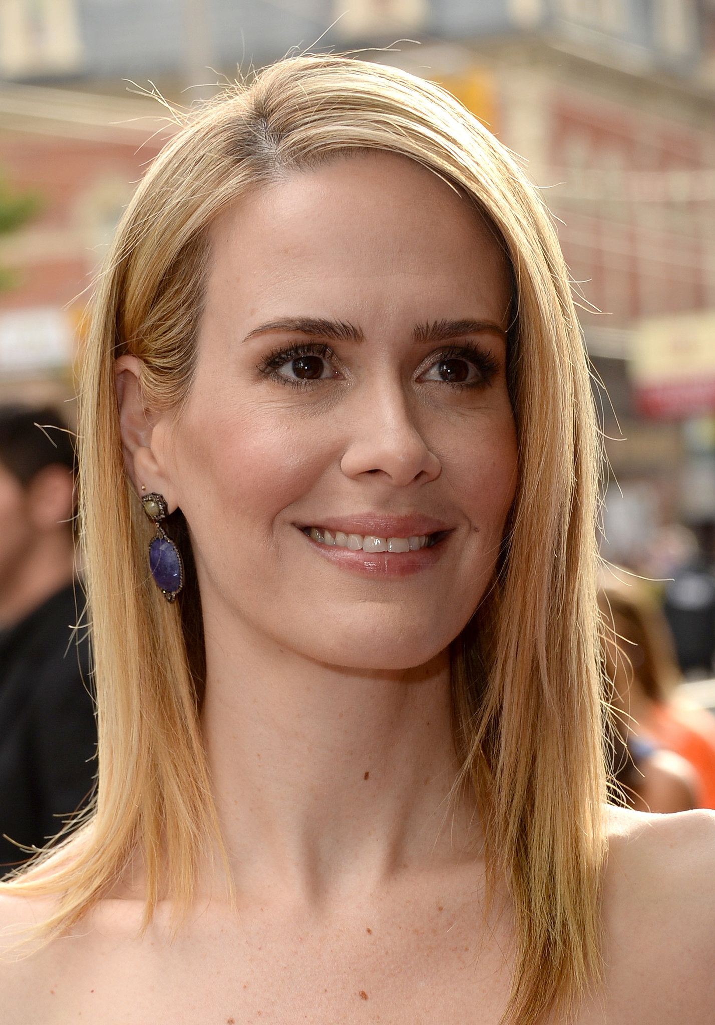 Sarah Paulson flashed a warm smile at the 12 Years a Slave premiere at the 2013 Toronto International Film Festival.