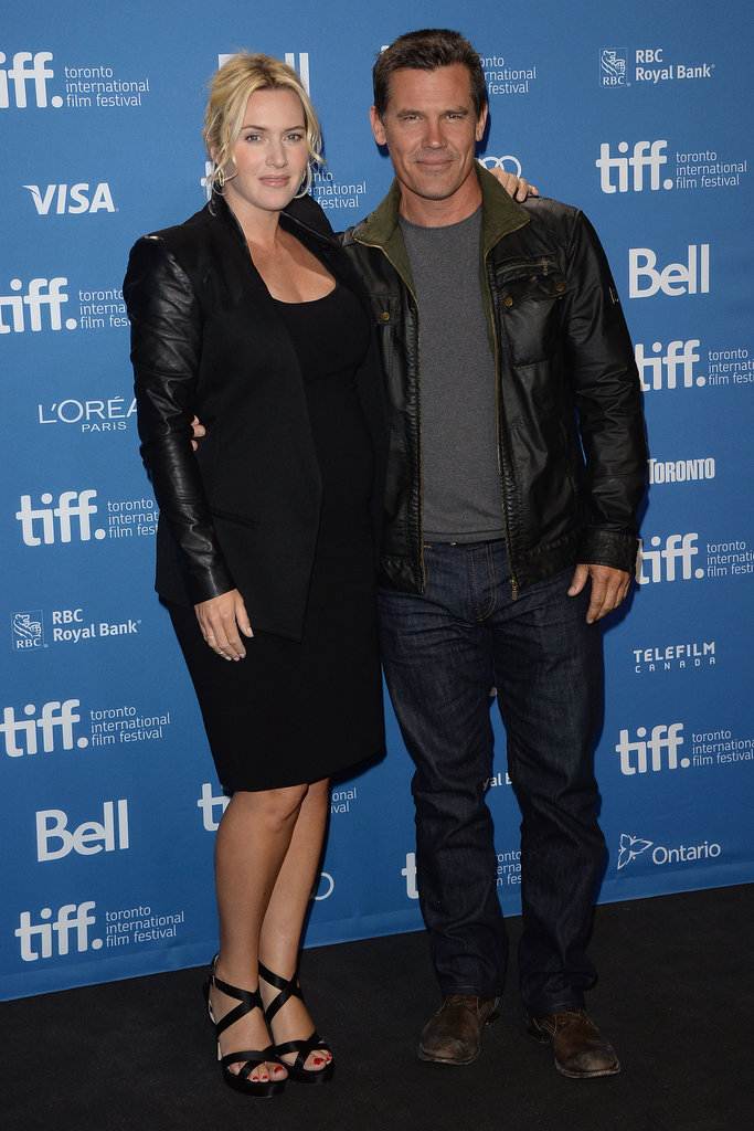 Kate Winslet posed with Josh Brolin at the Labor Day press conference at TIFF.