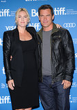 Kate Winslet and Josh Brolin attended the Labor Day press conference.