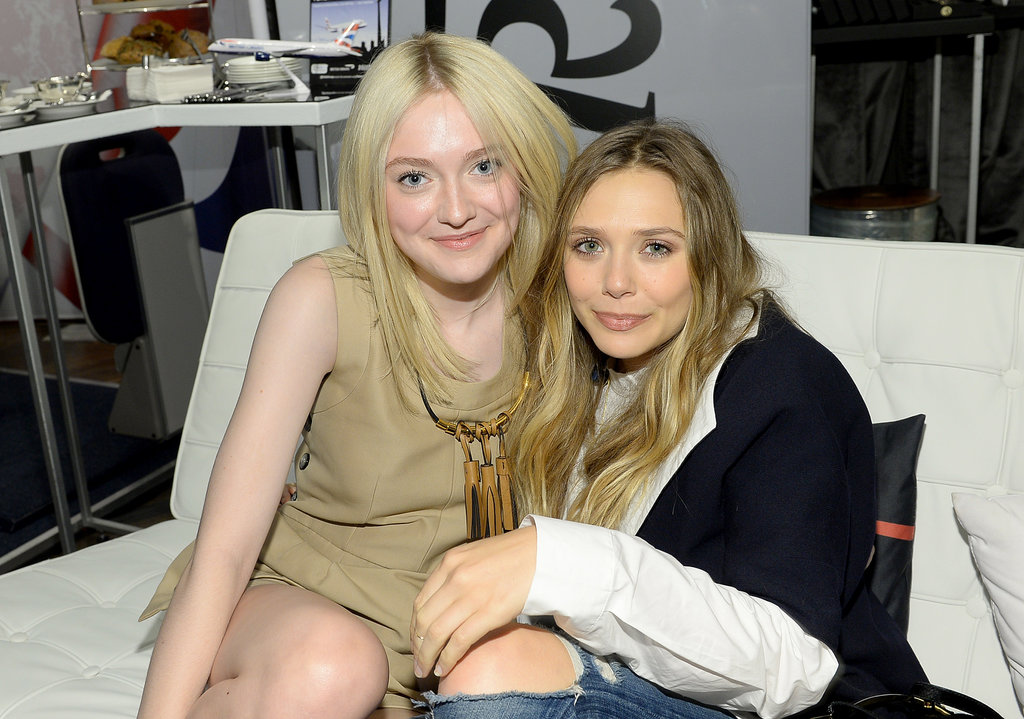 Stylish pals Dakota Fanning and Elizabeth Olsen hung out at the Holt Renfrew lounge.