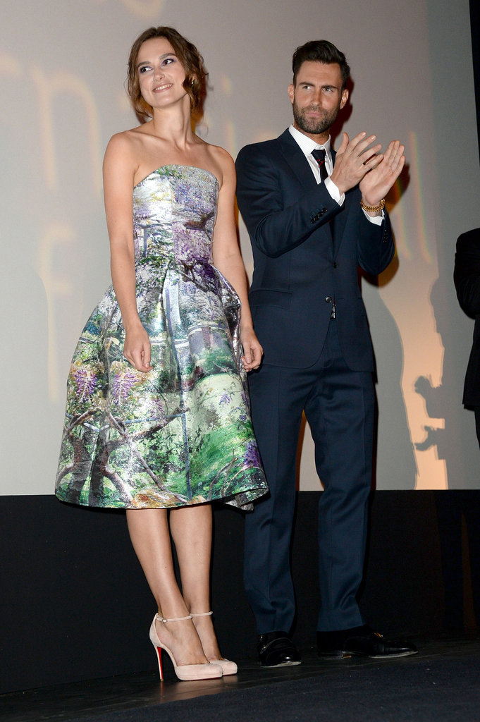 Keira Knightley and Adam Levine arrived at the Can a Song Save Your Life? premiere.