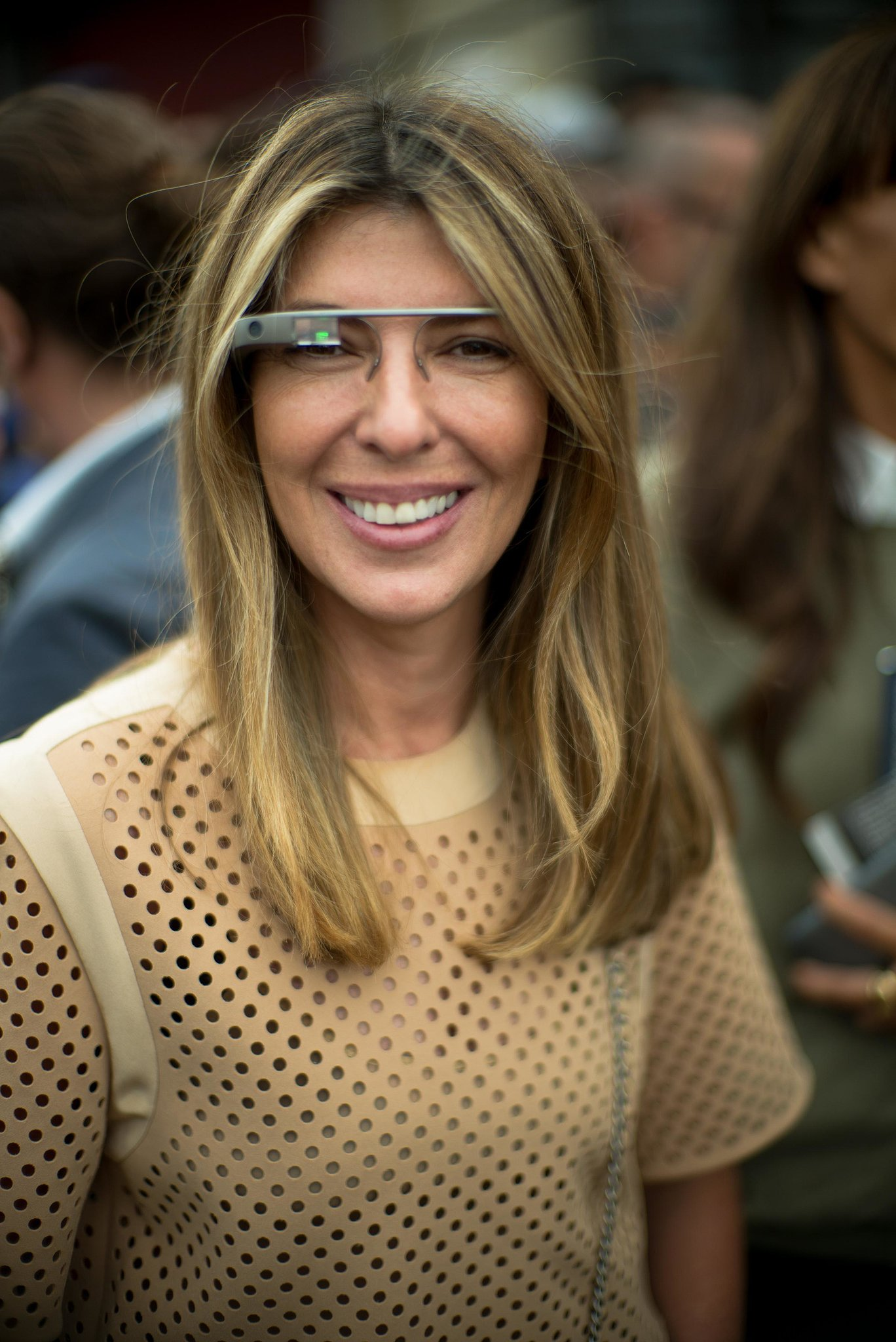 New fashion trends - Nina Garcia Modeled Google Glass In The Front Row Of