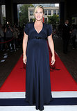 Kate Winslet was glowing in a Jenny Packham dress at the Labor Day premiere.