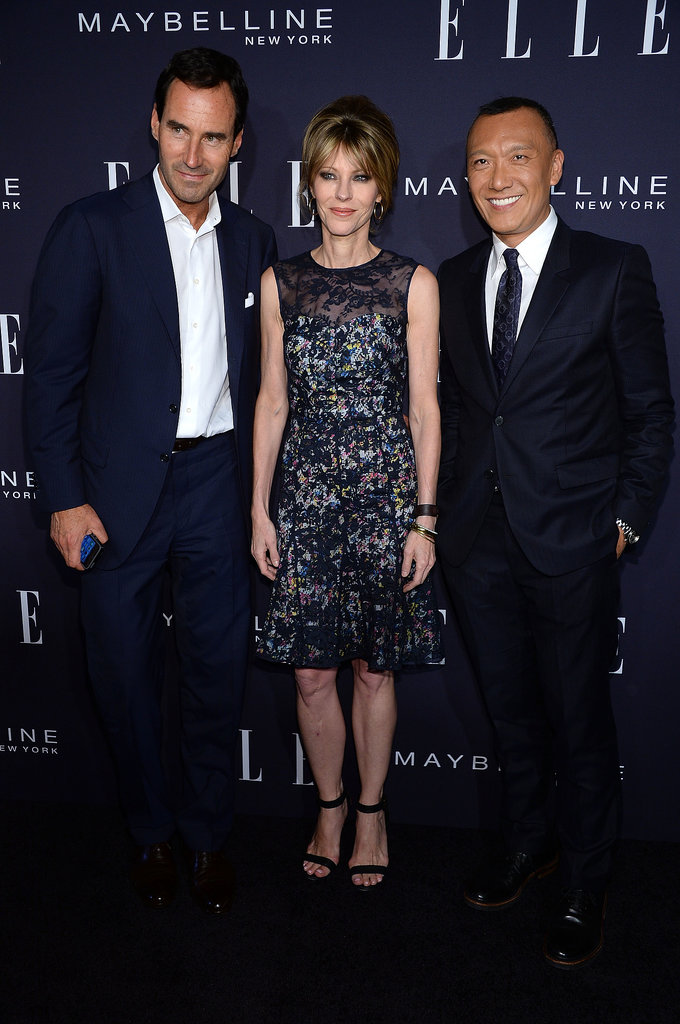 Kevin O'Malley, Robbie Myers, and Joe Zee stepped backstage before the Elle Fashion Next presentation.