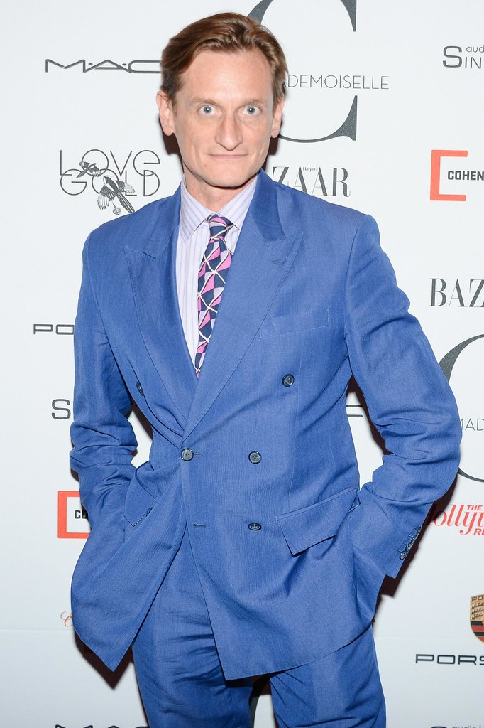 At the Mademoiselle C premiere, Hamish Bowles's colorful suit was a cheery pick-me-up after a long day of shows.
