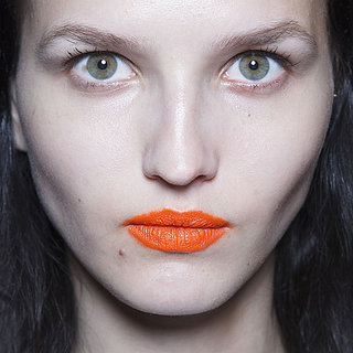 Bright Orange Lip at Rag & Bone Spring 2014 NYFW