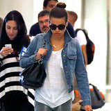 Pictures of Lea Michele at LAX Airport This Weekend