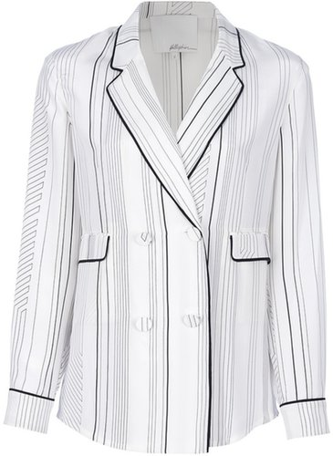 3.1 Phillip Lim striped double breasted blouse