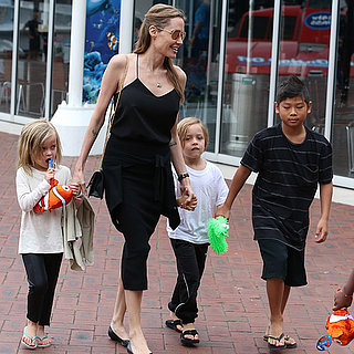 Angelina Jolie Takes Her Kids to Sydney Aquarium Today
