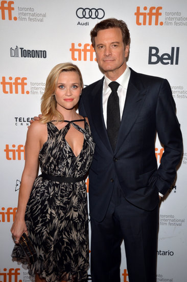 Reese Witherspoon and Colin Firth posed together at their TIFF premiere.