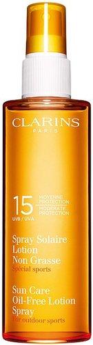 clarins sunscreen oil-free lotion spray SPF15 150ml