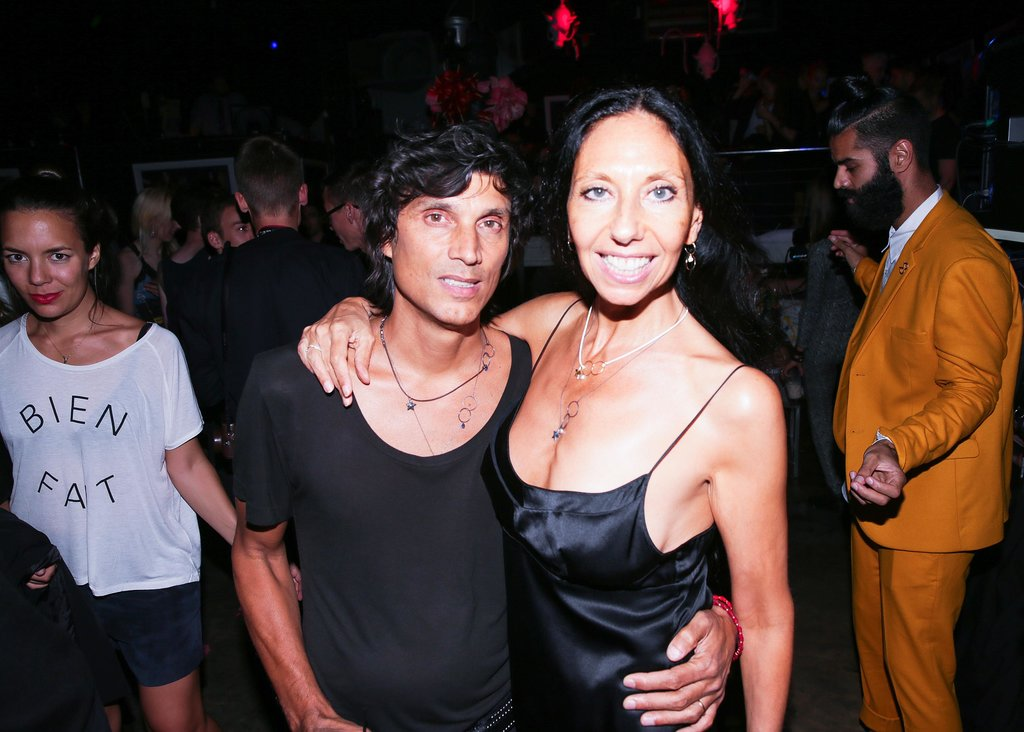 Inez van Lamsweerde and Vinoodh Matadin looked sleek in black at the Stephen Gan & V Magazine party.