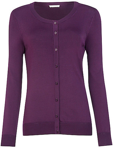 Planet Round Neck Cardigan, Purple