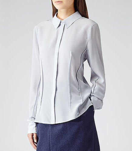 Lucia SILK SHIRT SKY BLUE