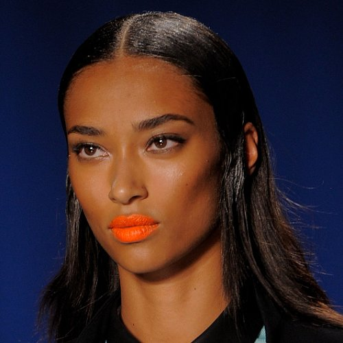Orange Lipstick Trend 2014 Spring New York Fashion Week
