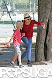 Naomi Watts spent Saturday at a Parisian park with her son Sasha.