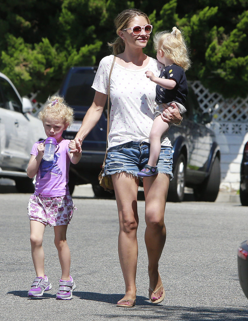 Rebecca Gayheart took her daughters, Billie and Georgia, grocery shopping in LA.