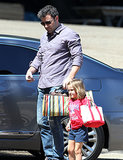 Ben Affleck accompanied his daughter Seraphina to a Malibu birthday party on Saturday.