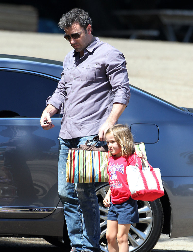 Ben Affleck accompanied his daughter Seraphina to a Malibu birthday party.