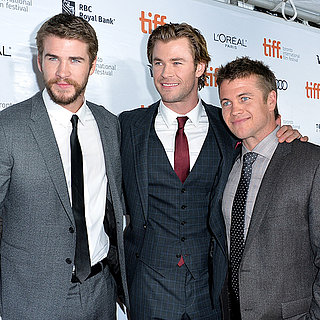 Chris, Liam and Luke Hemsworth at Rush TIFF Premiere